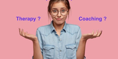 What is the difference between coaching and therapy?